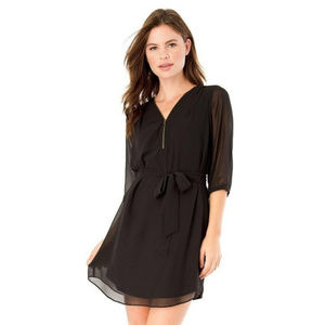 IZ BYER Front Zipper Shift Dress